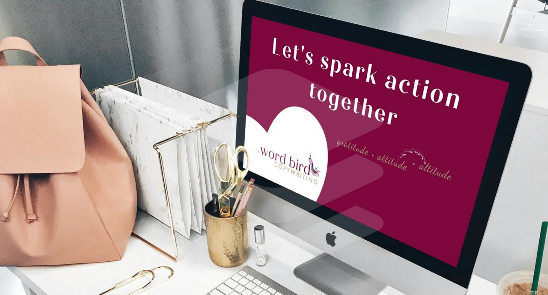 Small and local business copywriter Miranda Packer would love to spark your customers into action